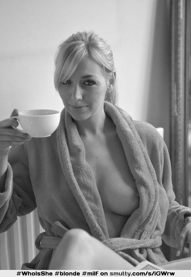 Think, that milf in bathrobe