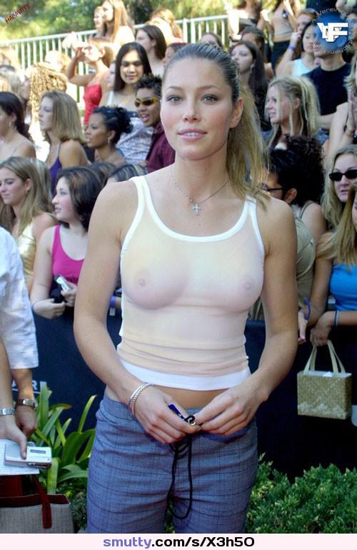 Brunette big tit model Lana Kendrick wetting hooters in see thru shirt  1136590