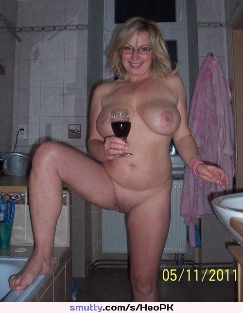#Amateur #MILF #Wine #Glasses #Naked #Nude #Shaved #LegUp ...