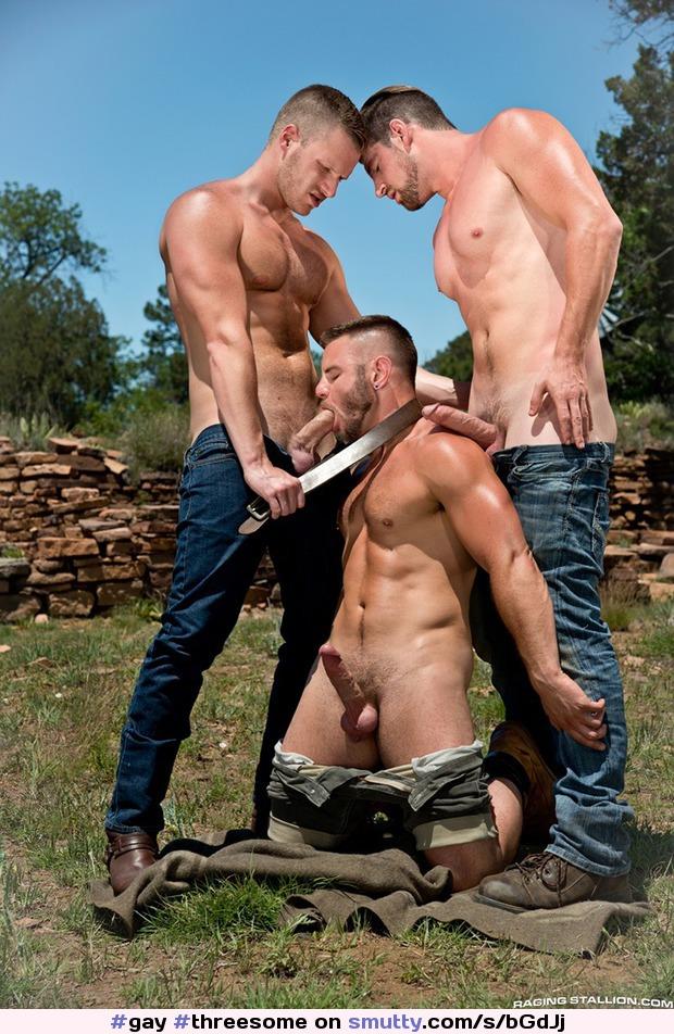 suckingcock gay threesome