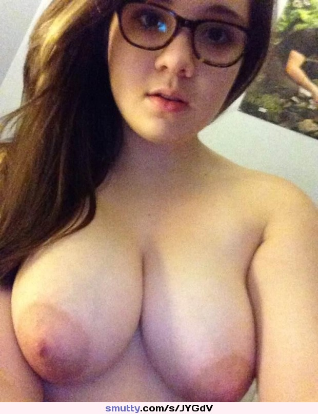 Cute nerd with glasses fucks with dildo
