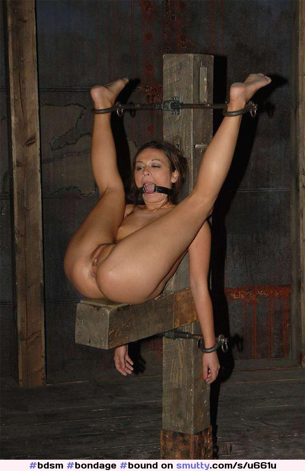 Blonde bdsm submissive restrained and gagged 1