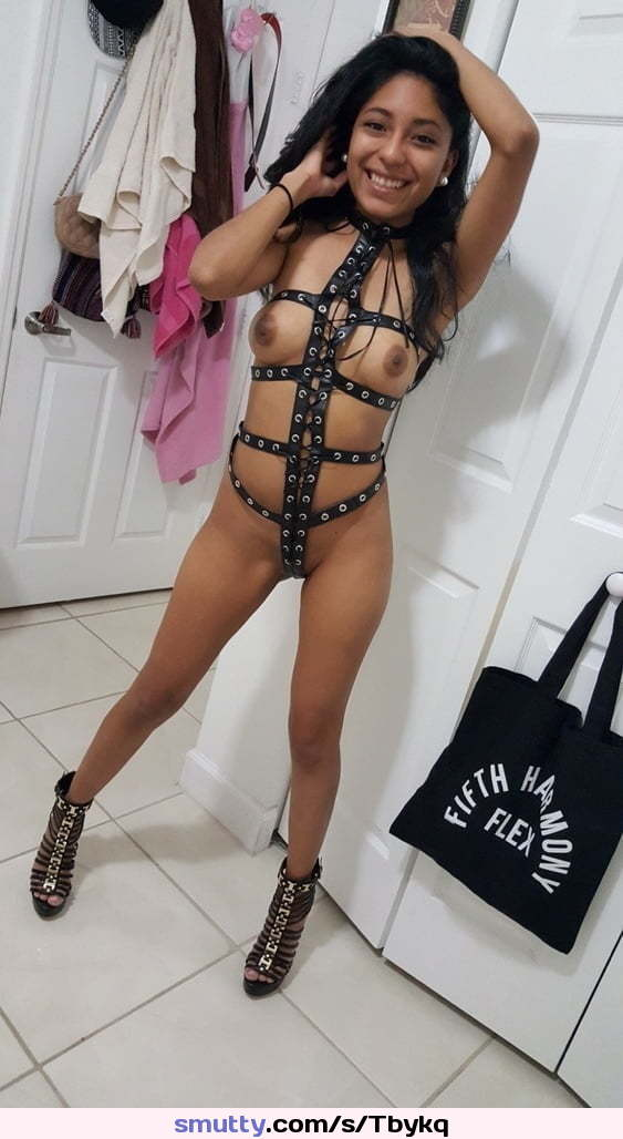 #sexslave#submissive#harness#tinytits#baldcunt#hotlegs#skinny#heels