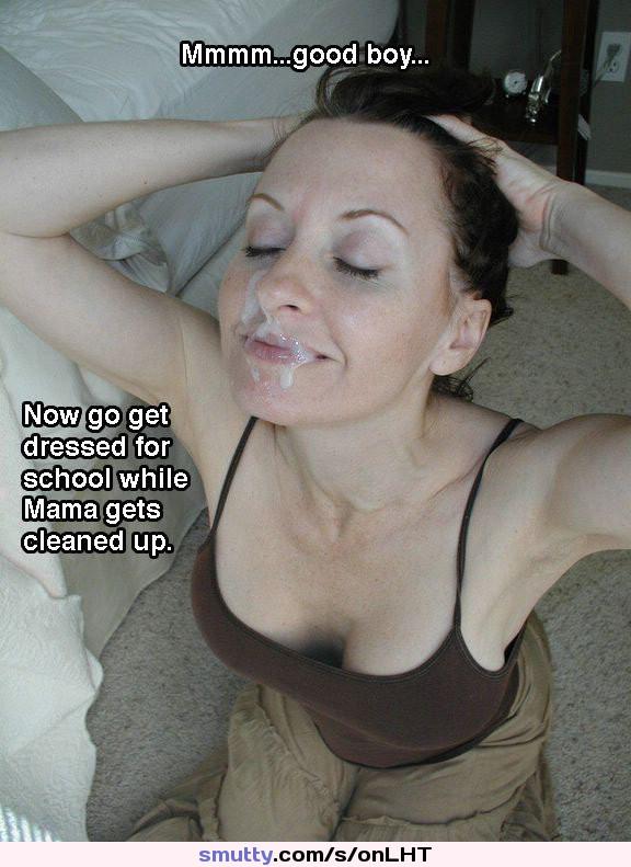 Massive cum shot on face