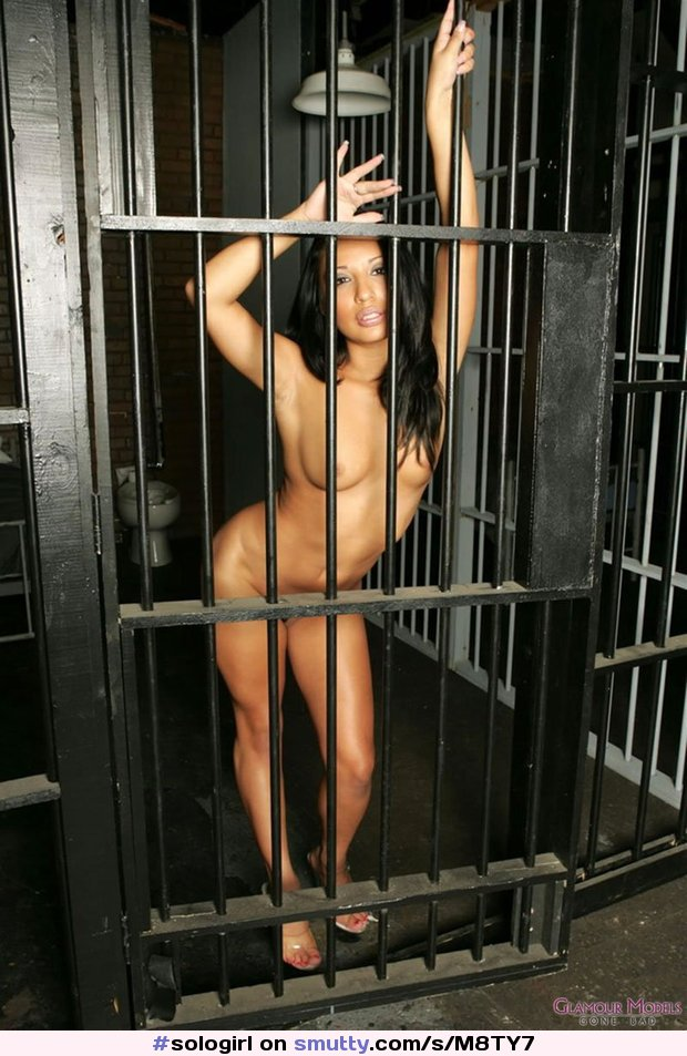 Naked woman in jail