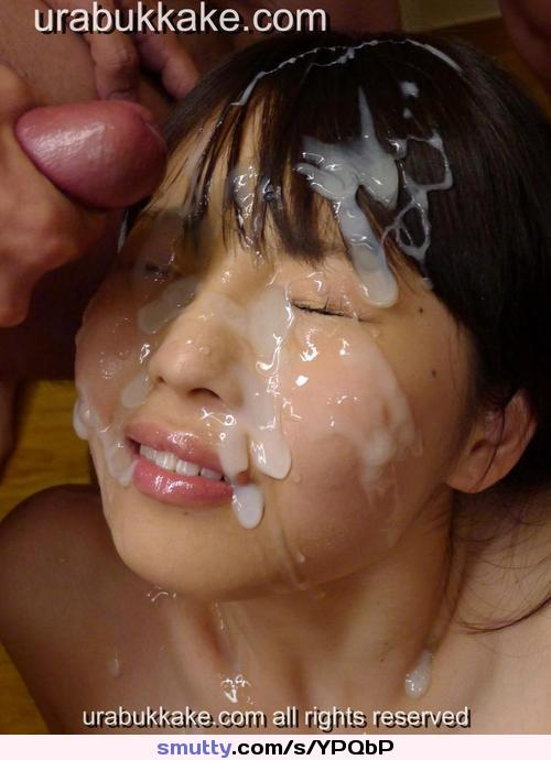 facial Asian bukkake cum