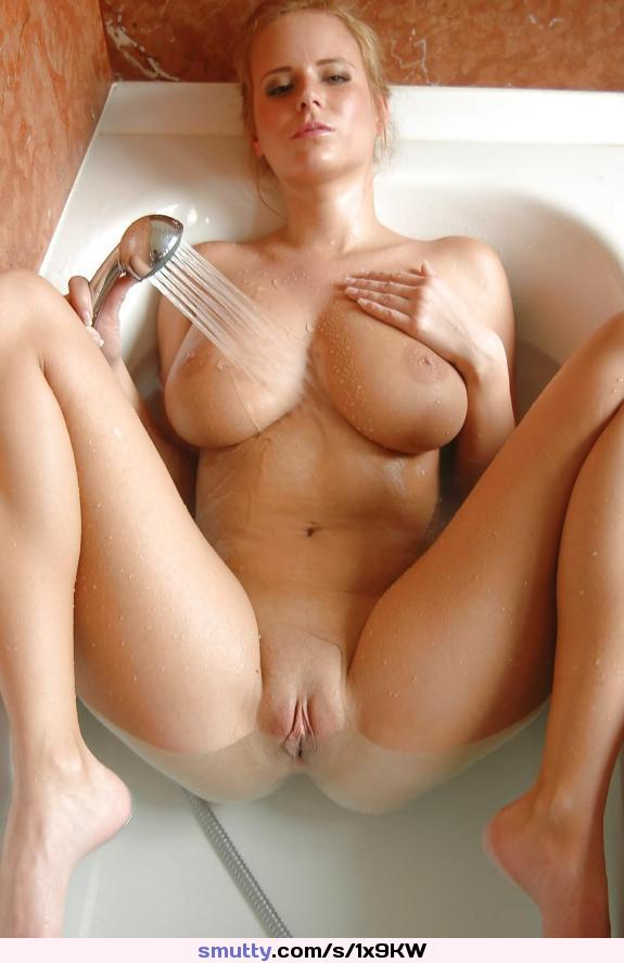 Busty milf: in the bath