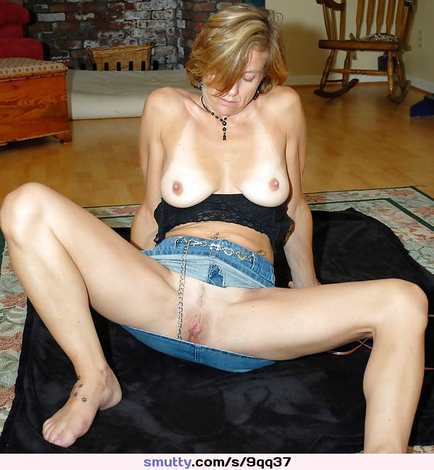 Blonde milf upskirt no panties