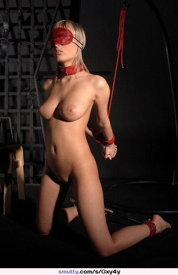 Bdsm blindfold female gag