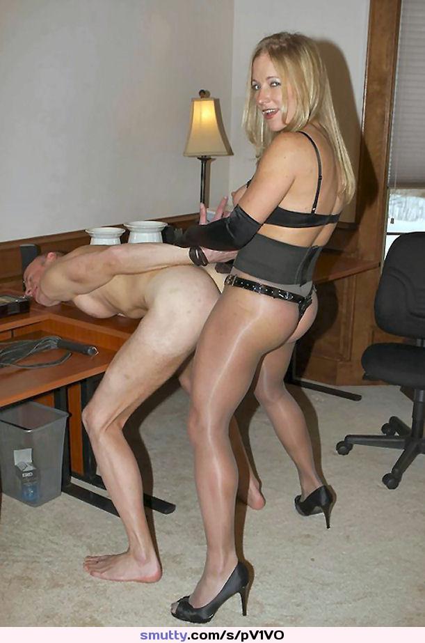 Nylon stockings female domination world