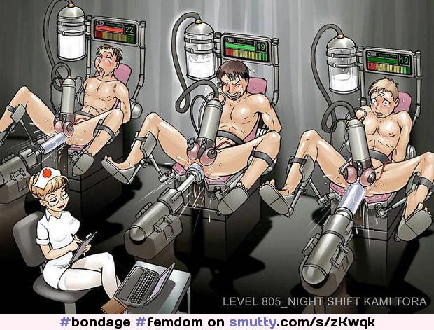 Femdom Pegging Milking Bondage