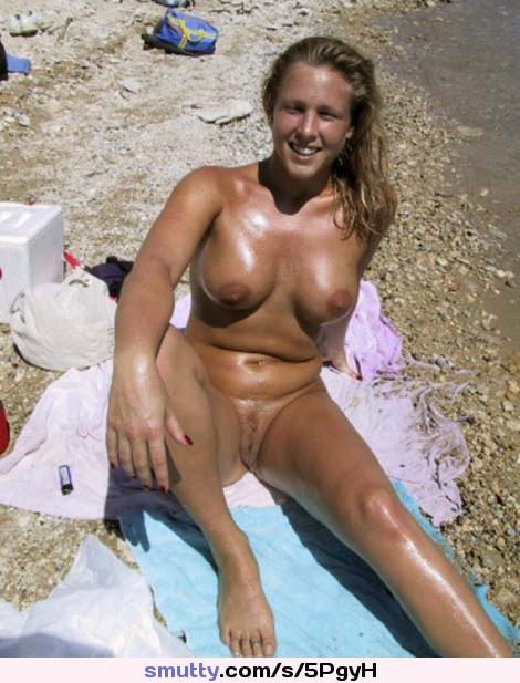 nude beach blonde big boobs