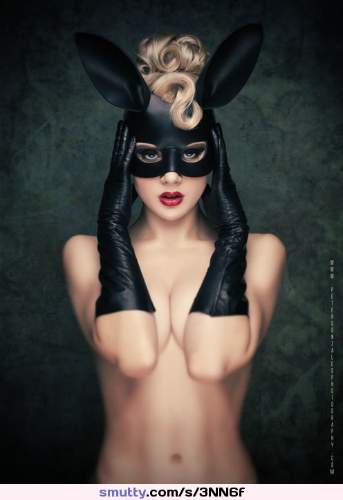 #BlackBunnyby*miss-mosh #blondehair #masked #LongGloves #torsoview #frontal