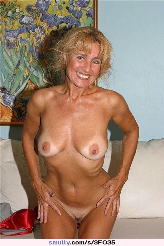 Mature blonde tanlines