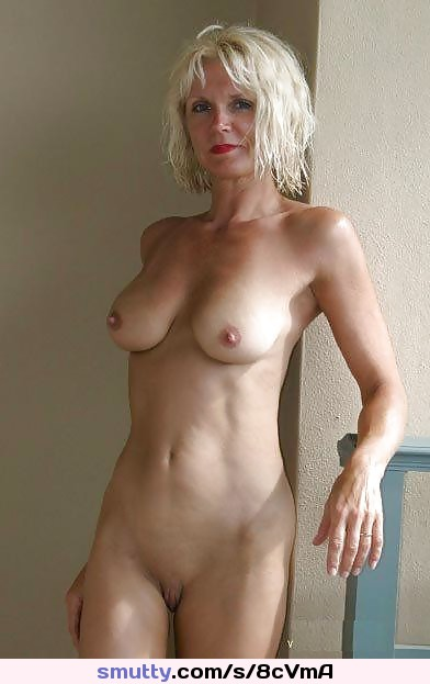 Mature Milf Cougar Hot Sexy Blonde Lipstick Frontal Pussy  -7569