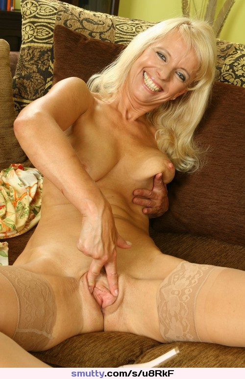 Older neighbor thighs clit finger