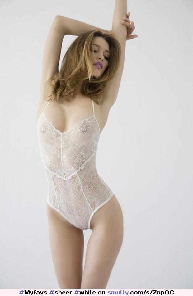 Celeb White Lace Sexy Teddy Naked Photos
