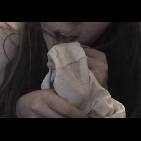 Amateur panty discharge eating 8