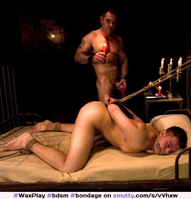 gay male bondage video wax