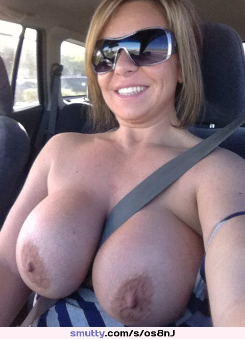 Huge boobs cars alone!