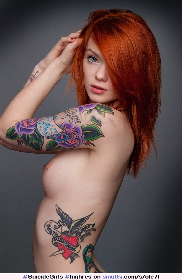 #HighRes #boobs #tattoo #redhead #Glamour #posed