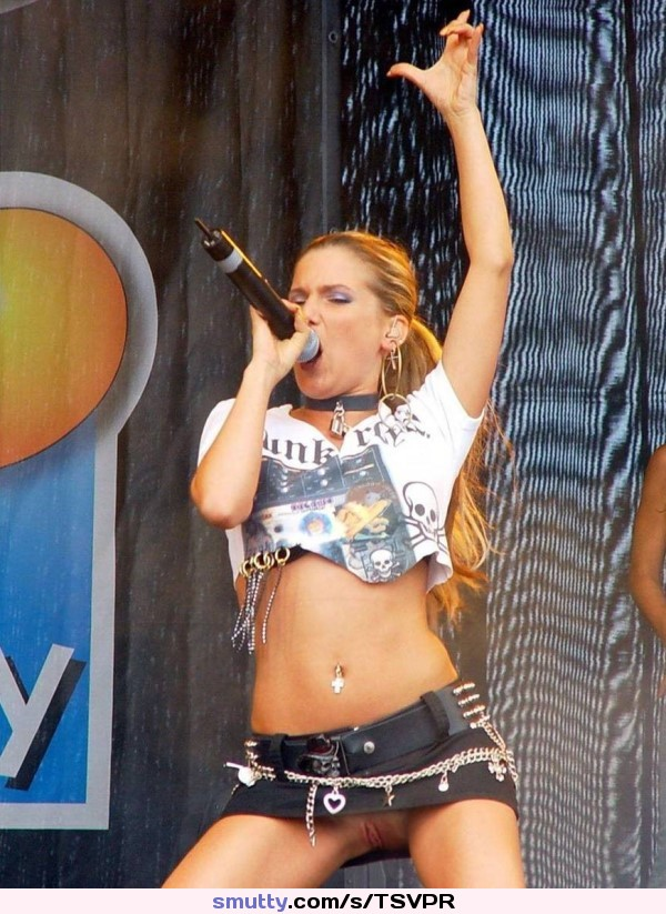 No panties on stage think, that