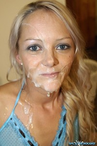 Blonde facial hot