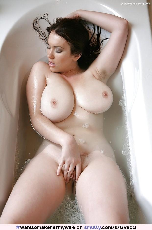 Big Tits Masturbation Car