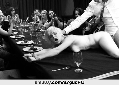 #gala#special#dinner#submissive#nude#inpublic#onthetable#bondage#handcuffs#guy#fucking#frombehind#champagne#sexe#MarquisDomSub#MarquisBW