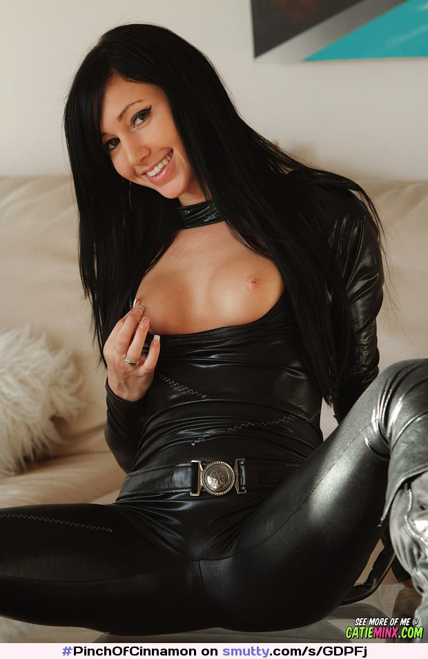 Catie Minx Shiny Latex Fuq 1