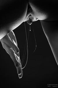 Erotic wet black pussy — photo 1