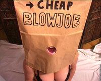 paper bag blowjob How cheap?