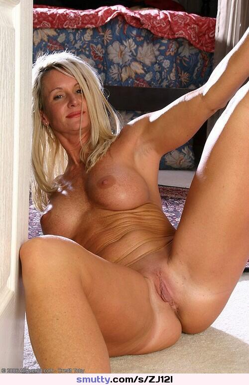 Mature blonde tanlines