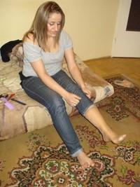 Teen feet nylon sock pics