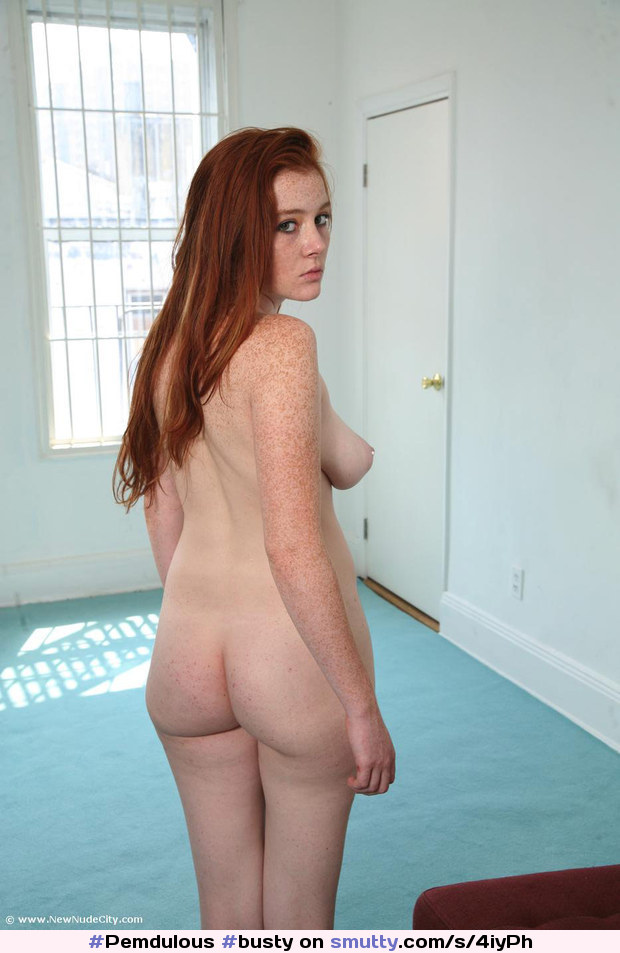 Skinny redhead freckles naked