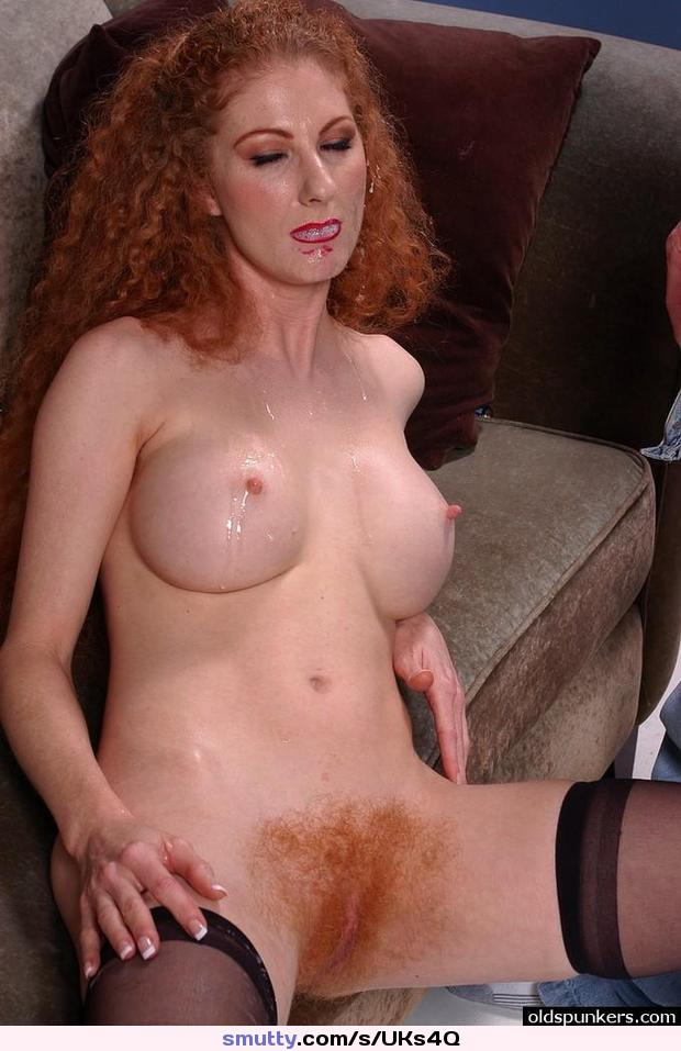 Mature pale redhead