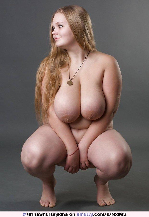 tits big Bbw blonde
