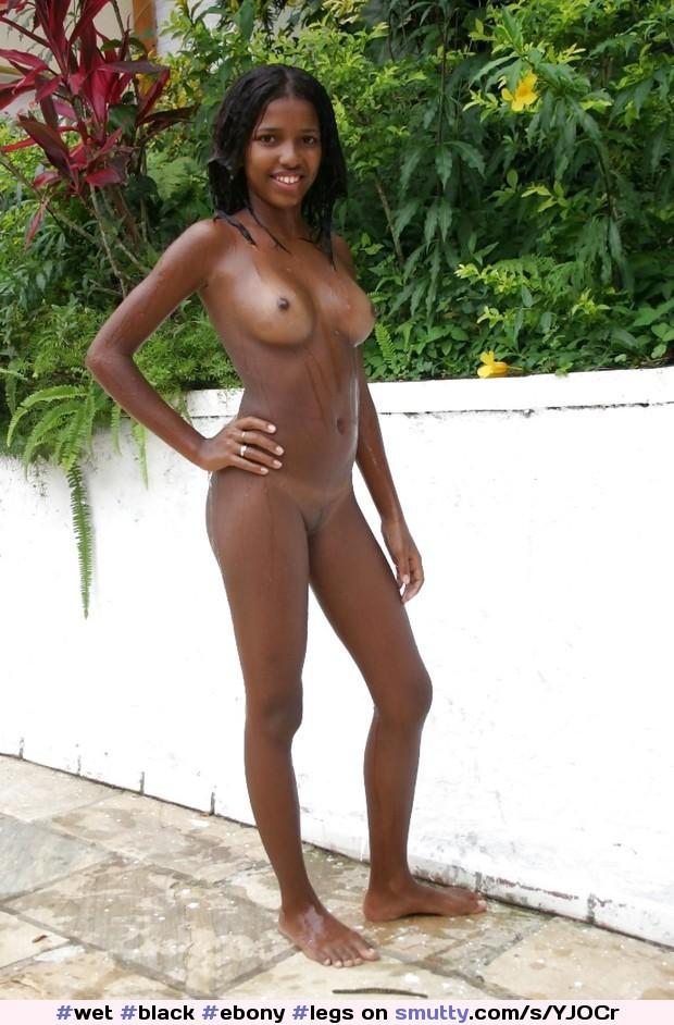 Young ebony crotch shots