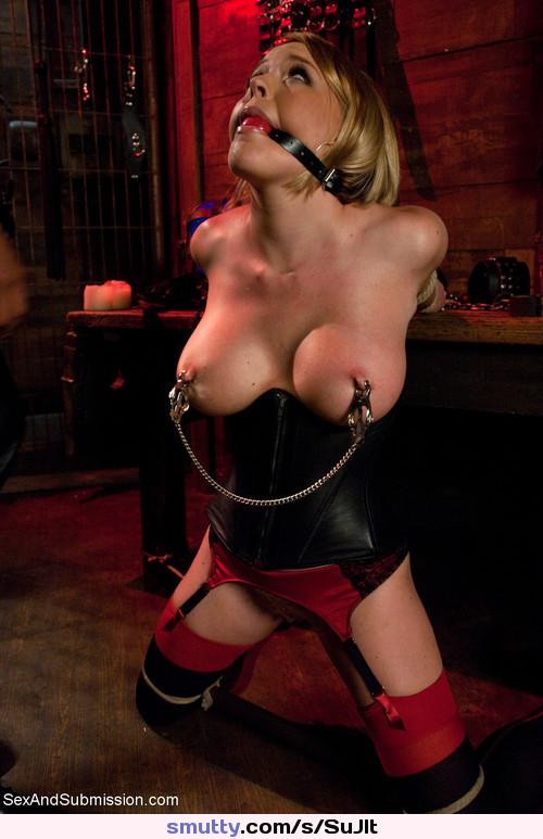 Rubber bondage and discipline corset