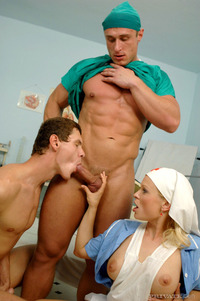 Hot bisexual cock sucking threesome