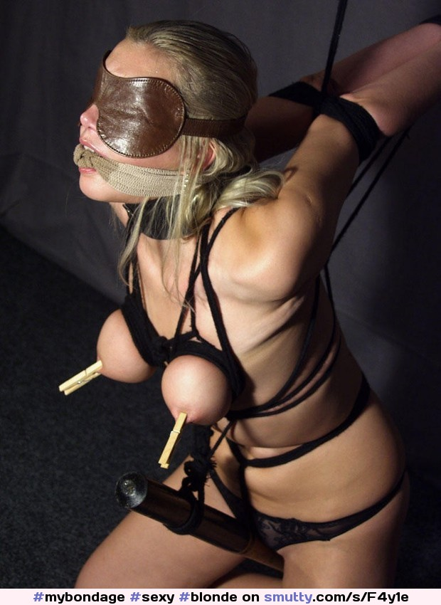 Blindfolded bondage gagged