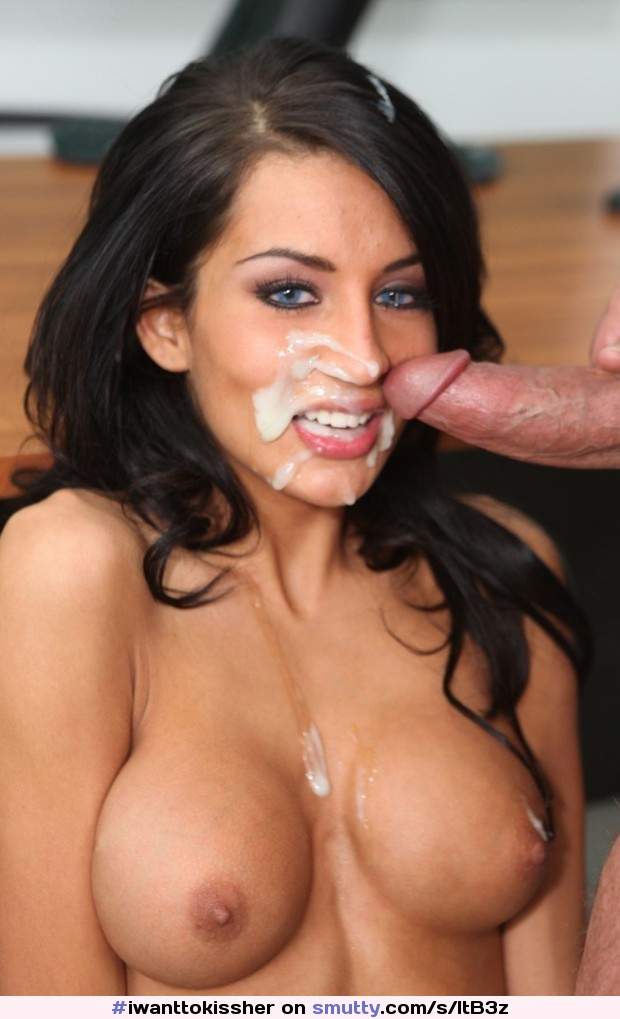 Hot face cumshot