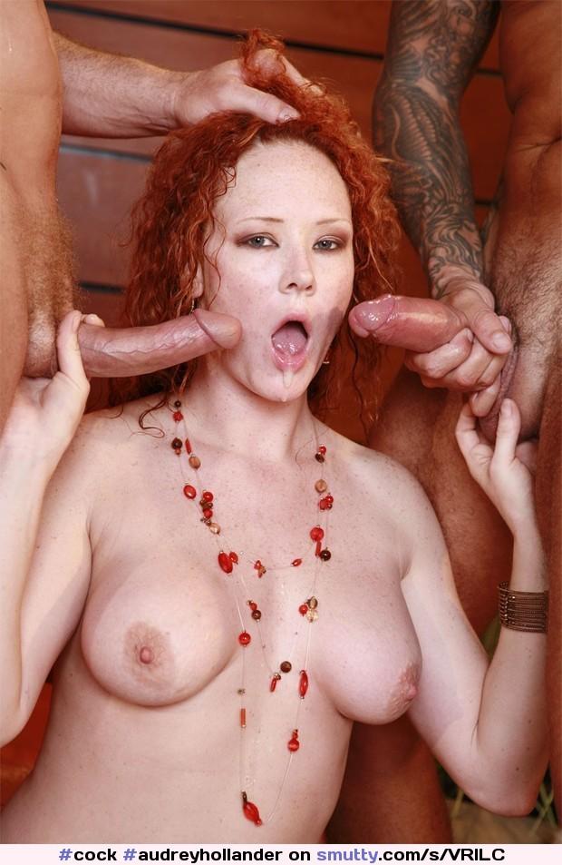 Audrey Hollander bekommt einen Doppel vaginale penetration
