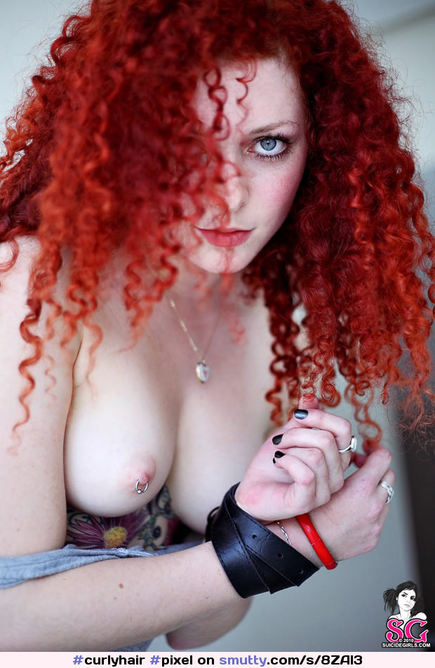 #Pixel from #SuicideGirls #redhead #cute #pale #freckles #lips #boobs #smallboobs #pierced #piercednipples
