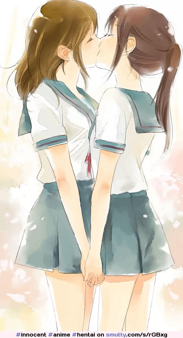 Hentai lesbians kiss