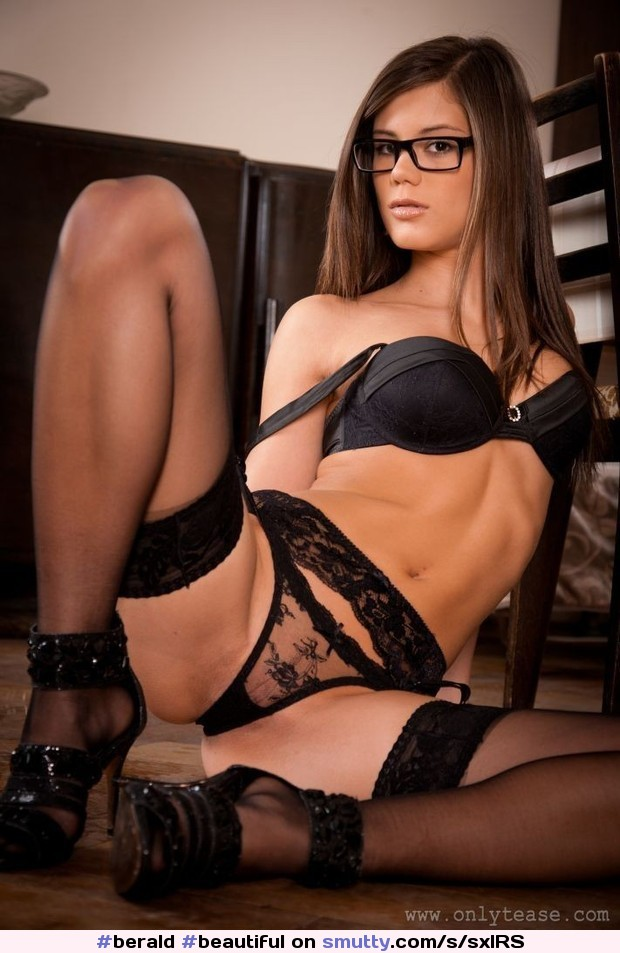 #Beautiful#brunette#glasses#pretty#eyes#sexy#lips#lingerie#bra#panties#stockings#teacher#bad#naughty#seductive#erotic#young