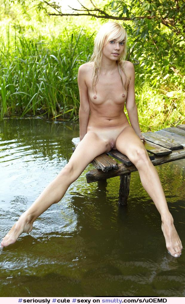 Outdoor blonde wet beach