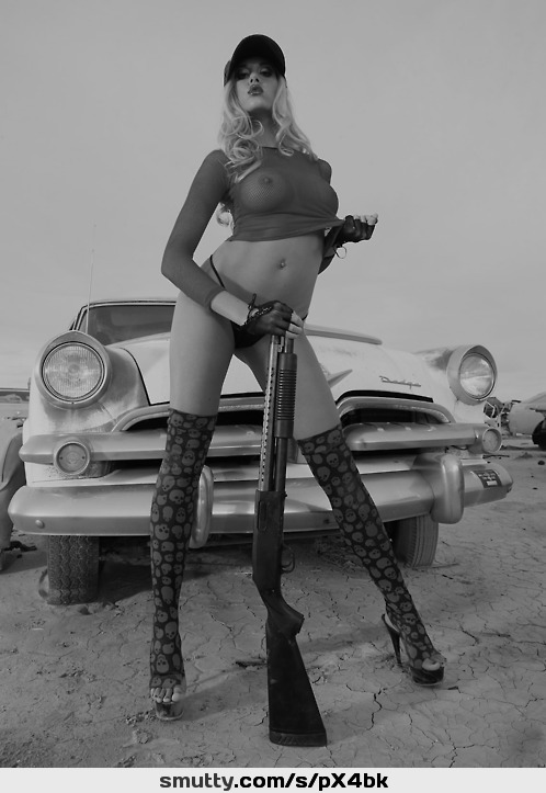 #outdoor#car#gun#rifle#seethru#seethrough#stockings#highheels#cap#blonde#eyecontact#perfect#Beautiful#pretty#prettygirl#prettyface