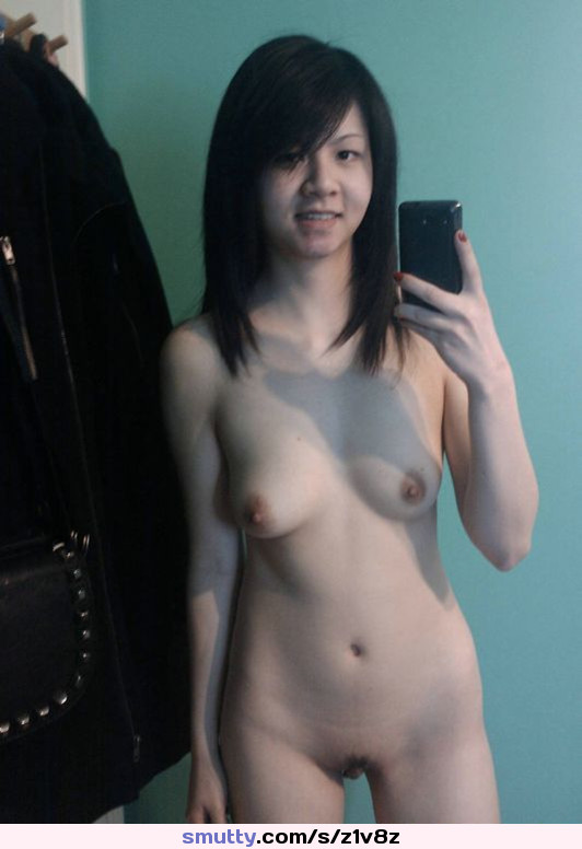 Sexy asian gf takes a hot naked self shot