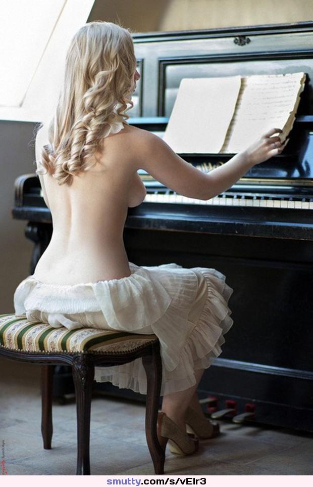 Nude Playing Piano